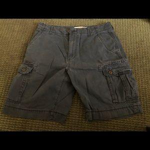 Arizona Mens Navy Cargo Shorts. 32